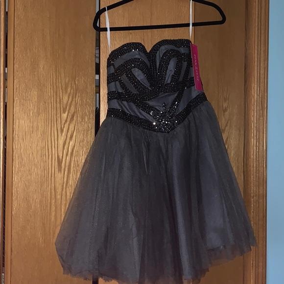 Alyce Paris Dresses & Skirts - Beautiful Brand New Fancy Grey Dress